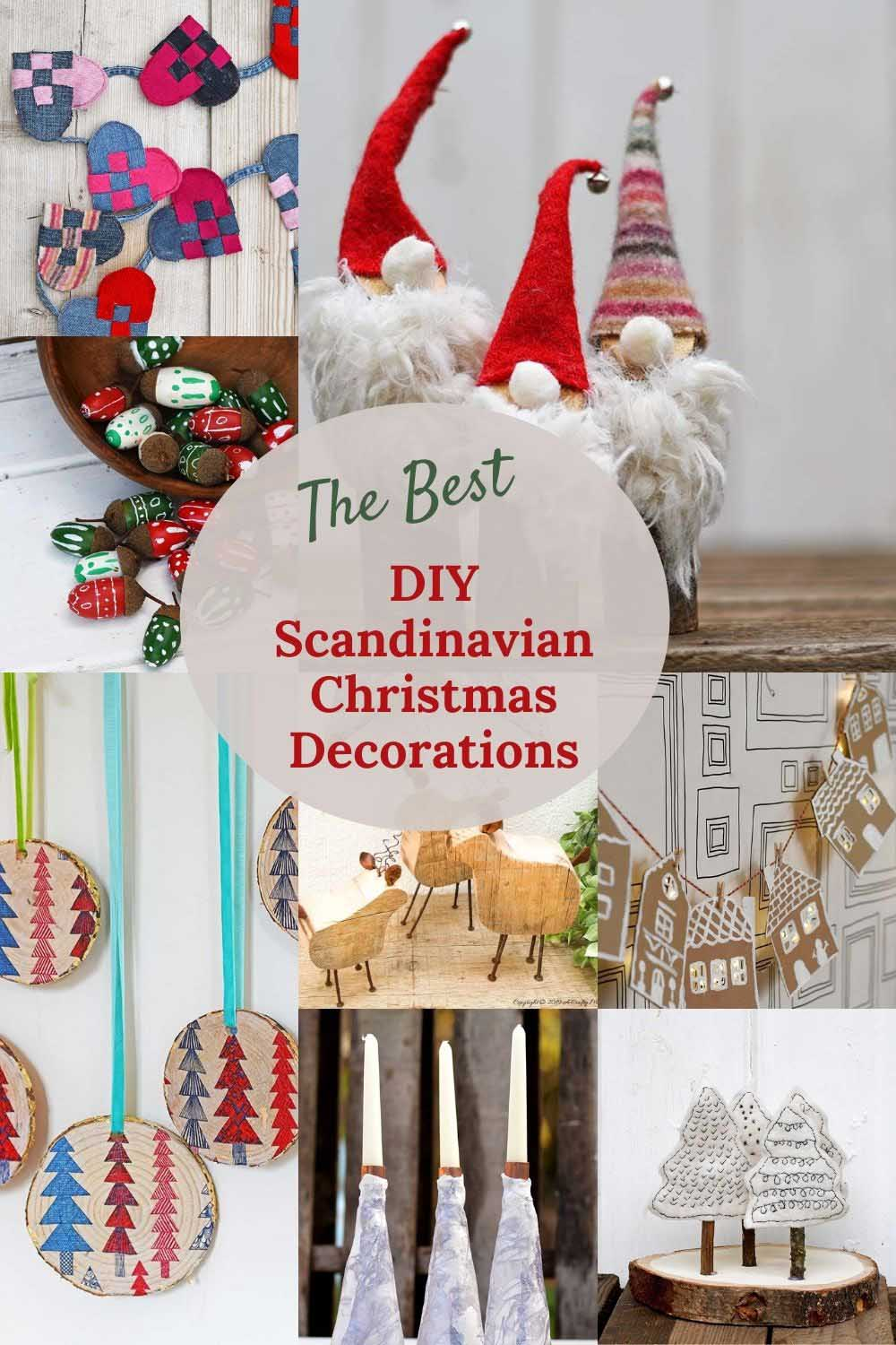 the best DIY Scandinavian Christmas Decorations and crafts