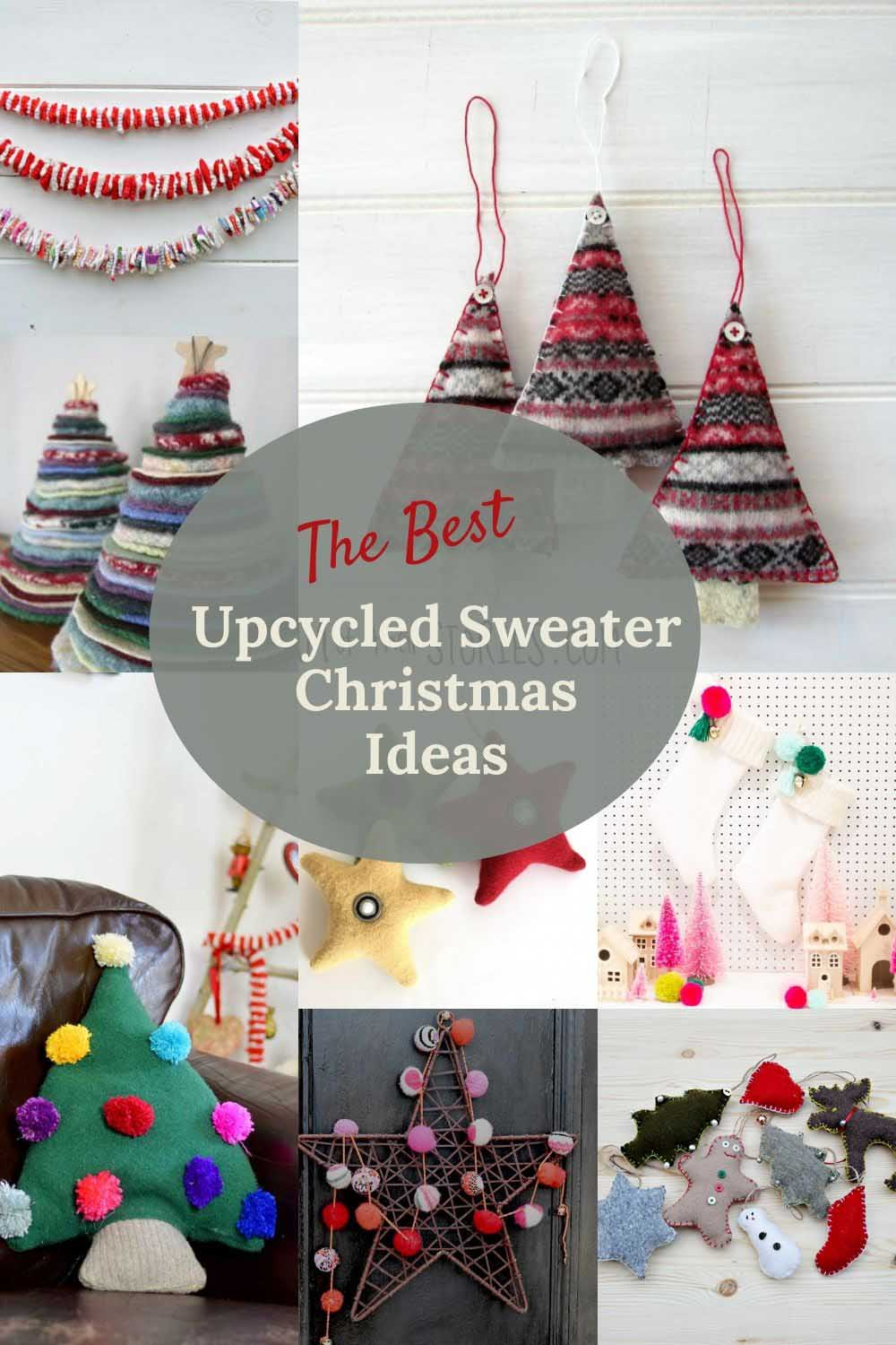 upcycling sweaters for christmas