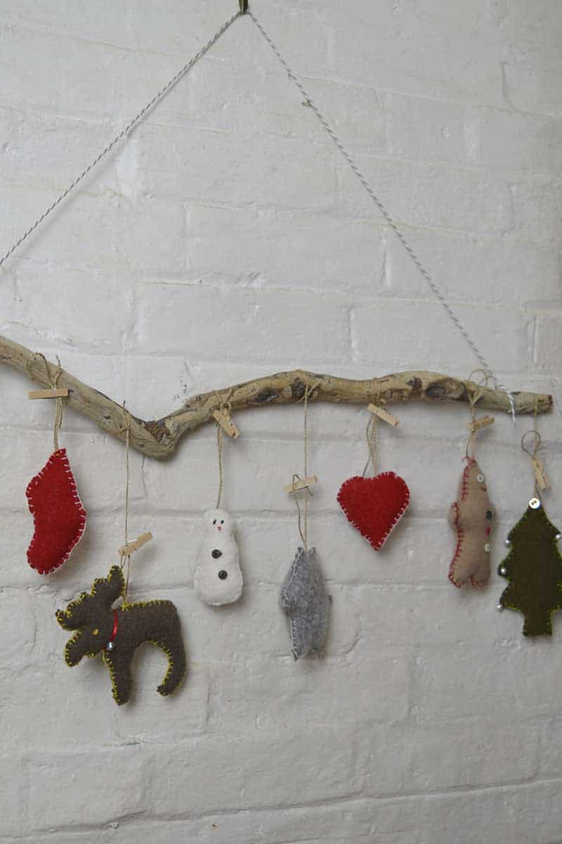 Cookie cutter wall hanging