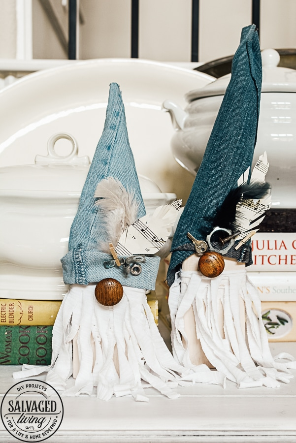 A To Z of Denim crafts J junk gnomes