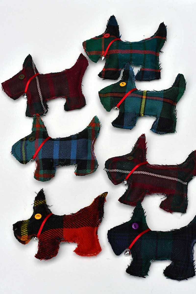 All the tartan Scottie dogs