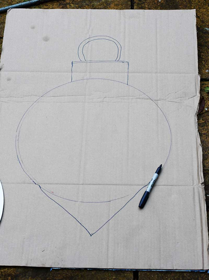 Giant bauble drawing