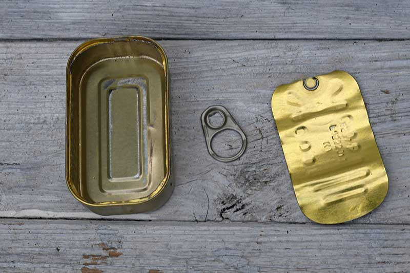 Sardine can to upcycle into and ornament