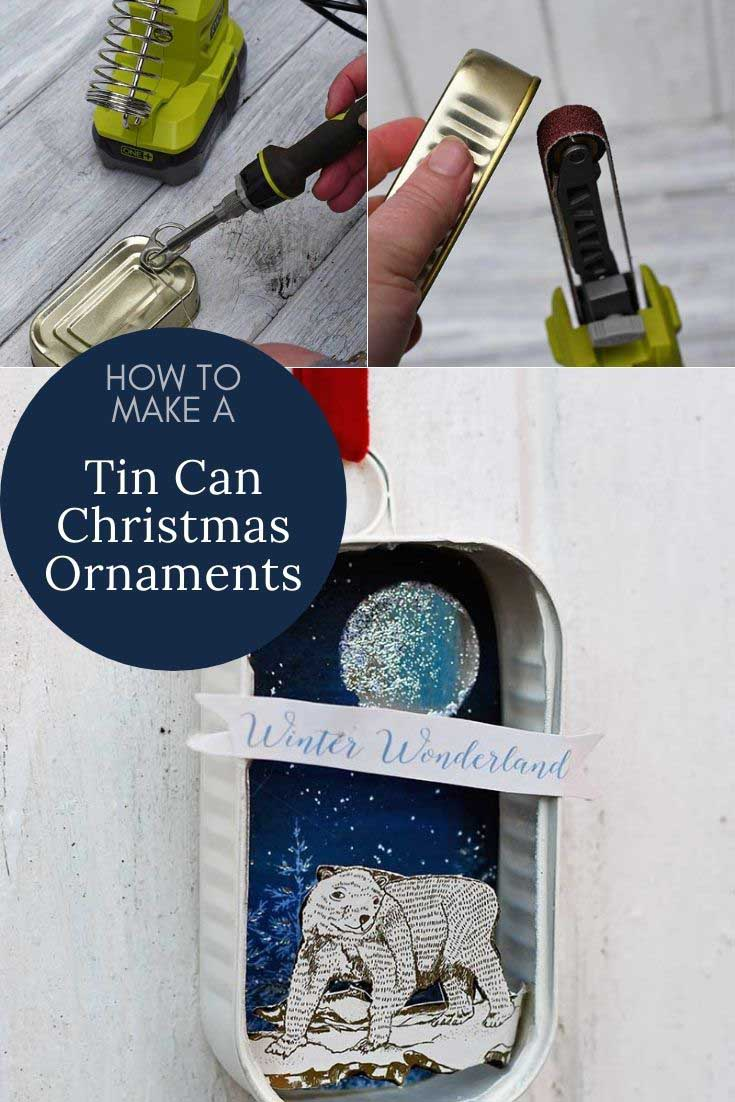 How to Make a tin can Christmas ornament