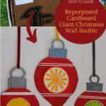 repurposed cardboard Christmas decorations