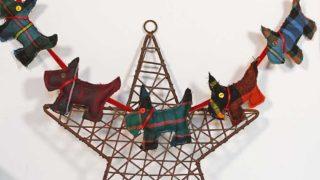 tartan scottie dog ornaments