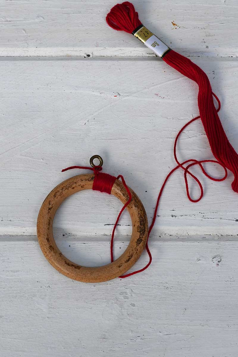 wrapping the curtain ring