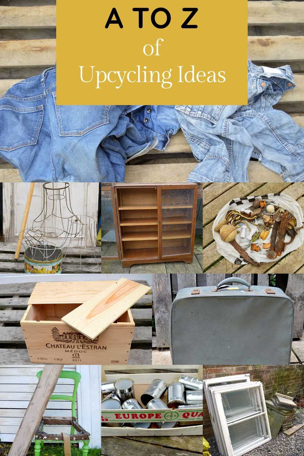 A to Z clever upcycling ideas