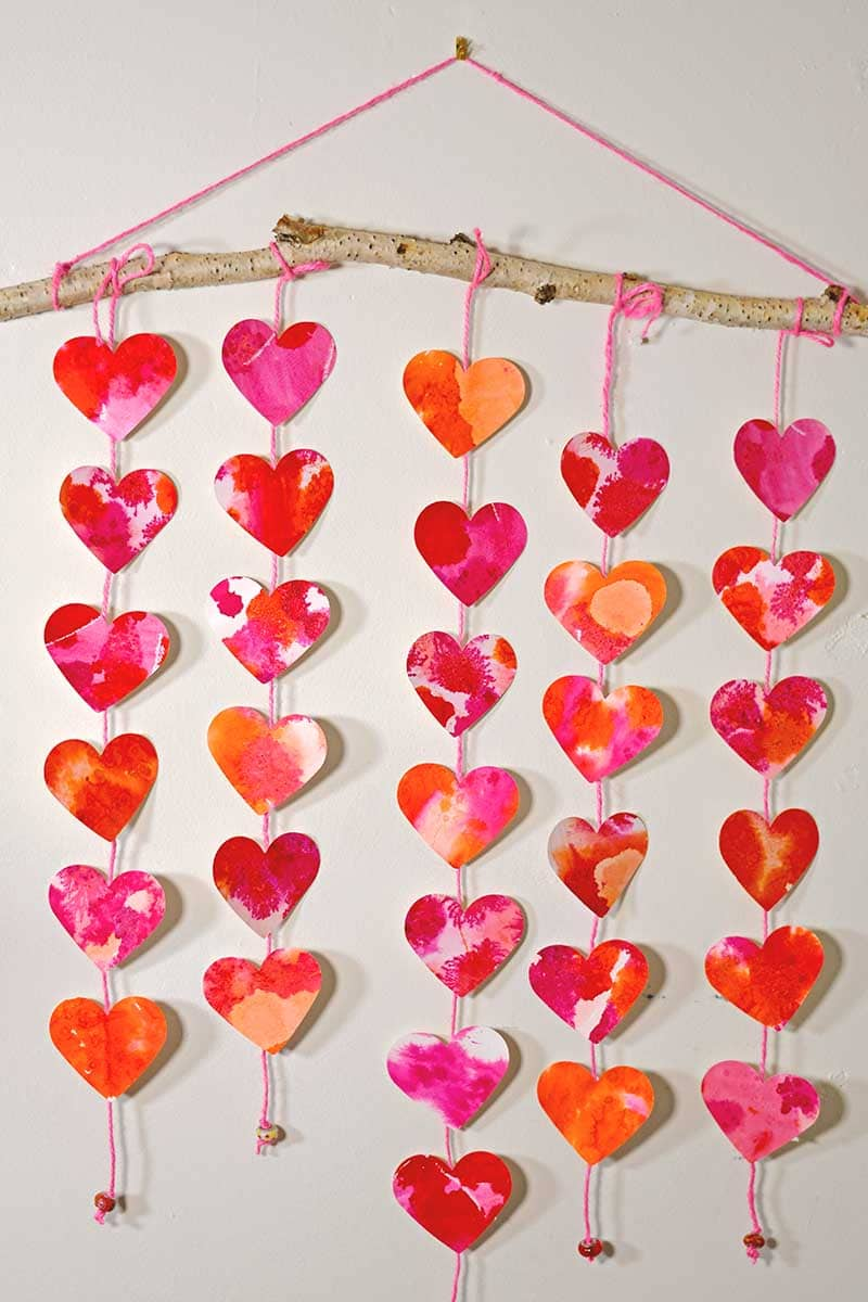 hanging paper heart decoration