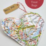 upcycled road map treat bags