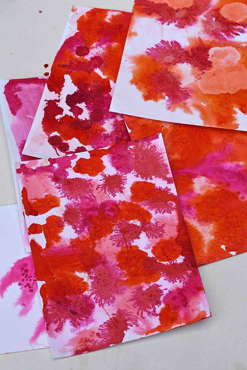 watercolor ink sheets