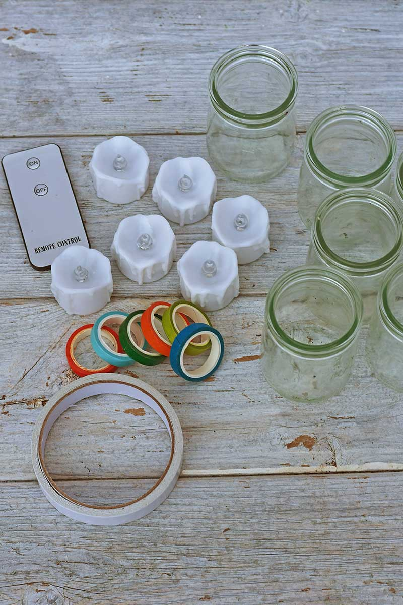 What you need for lantern tea light jars