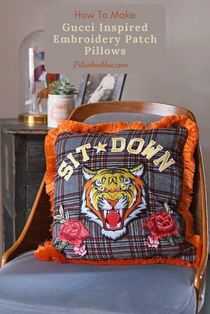 DIY-Gucci-Inspired-Tiger-pillow