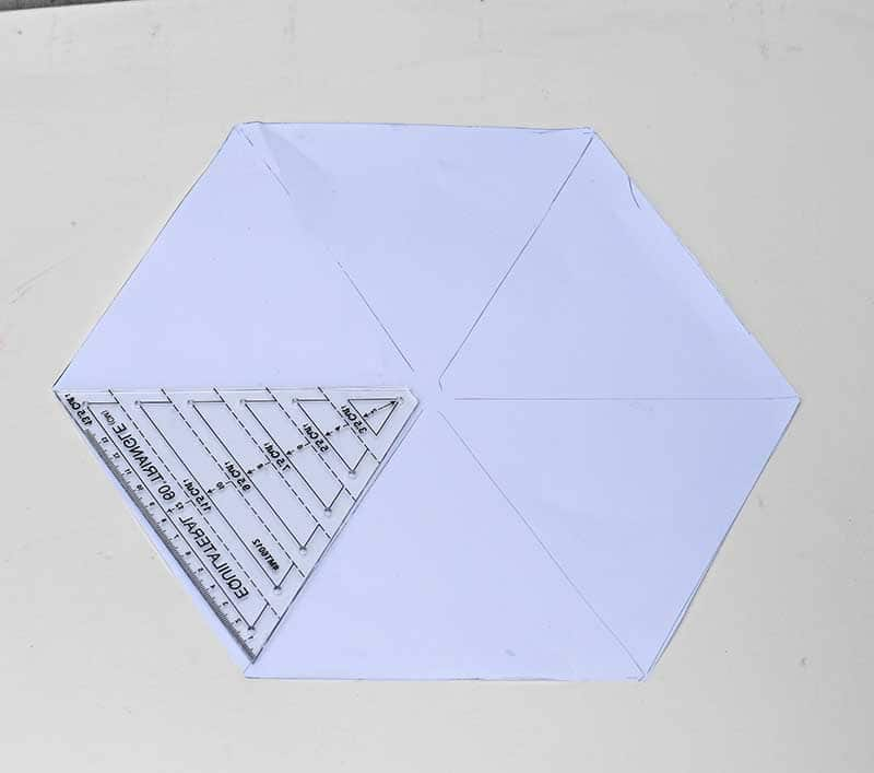 Making hexagon paper template