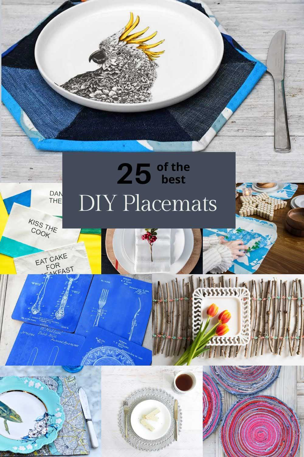 making placemats the 25 best DIYs