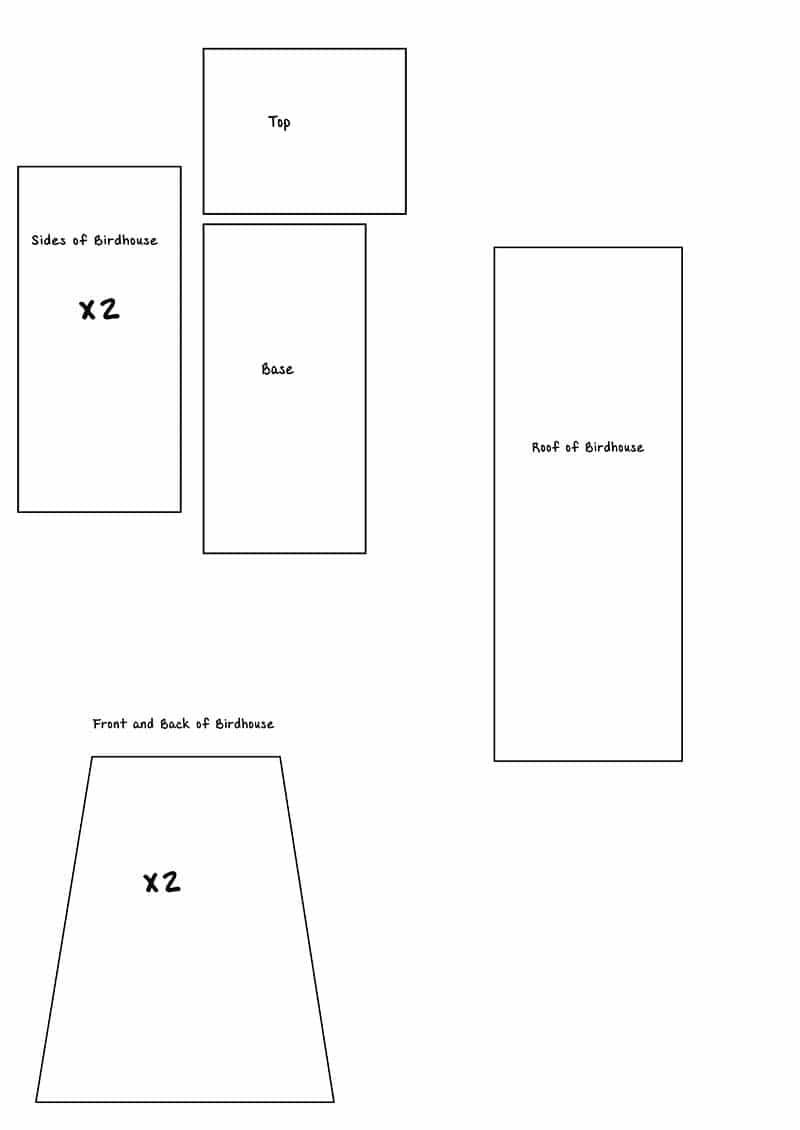 mini birdhouse template