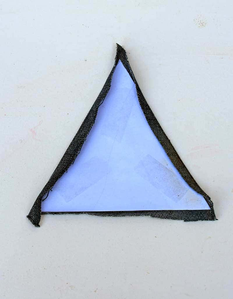 Ironed triangle patchwork