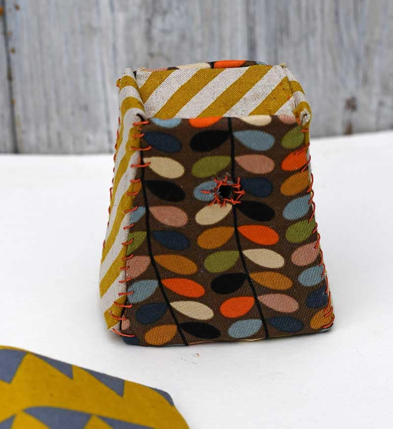 Stitched birdhouse