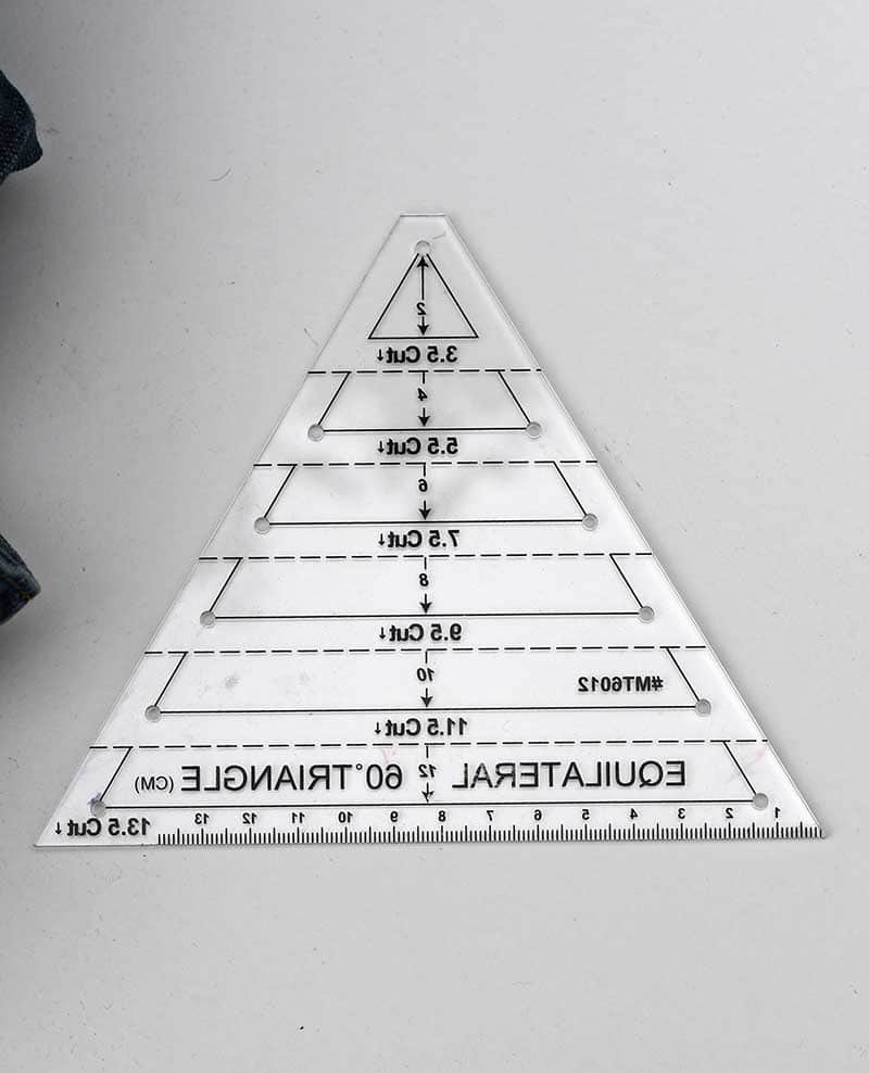 quilters triangle ruler