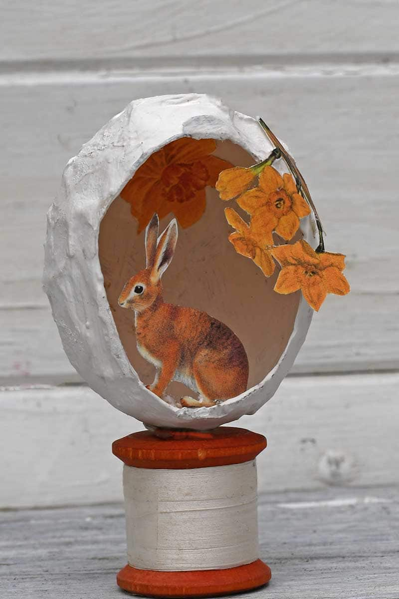 Paper Mache Egg Easter Decoration