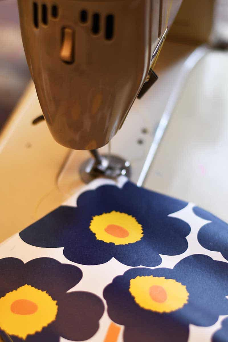 Stitching the paper vases