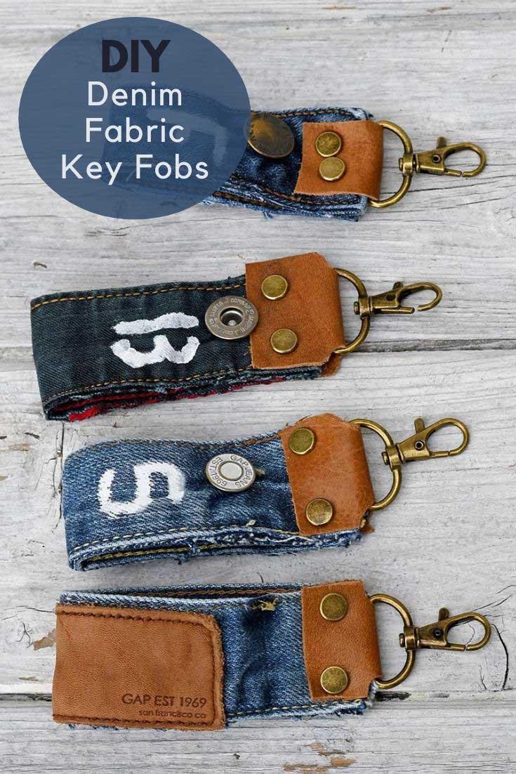 DIy-denim-fabric-key-fobs