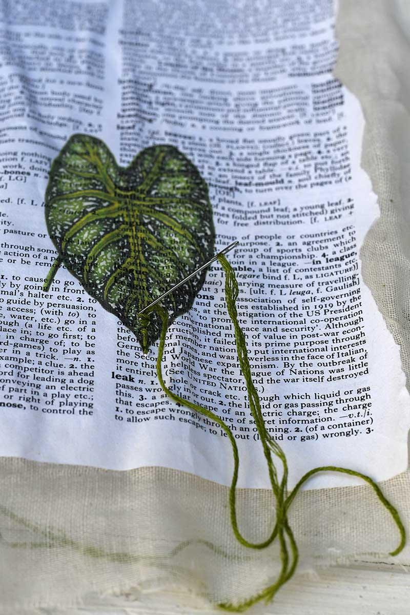 Leaf dictionary paper art