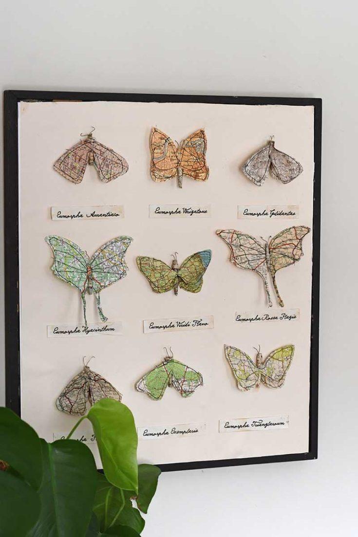 Faux paper moths