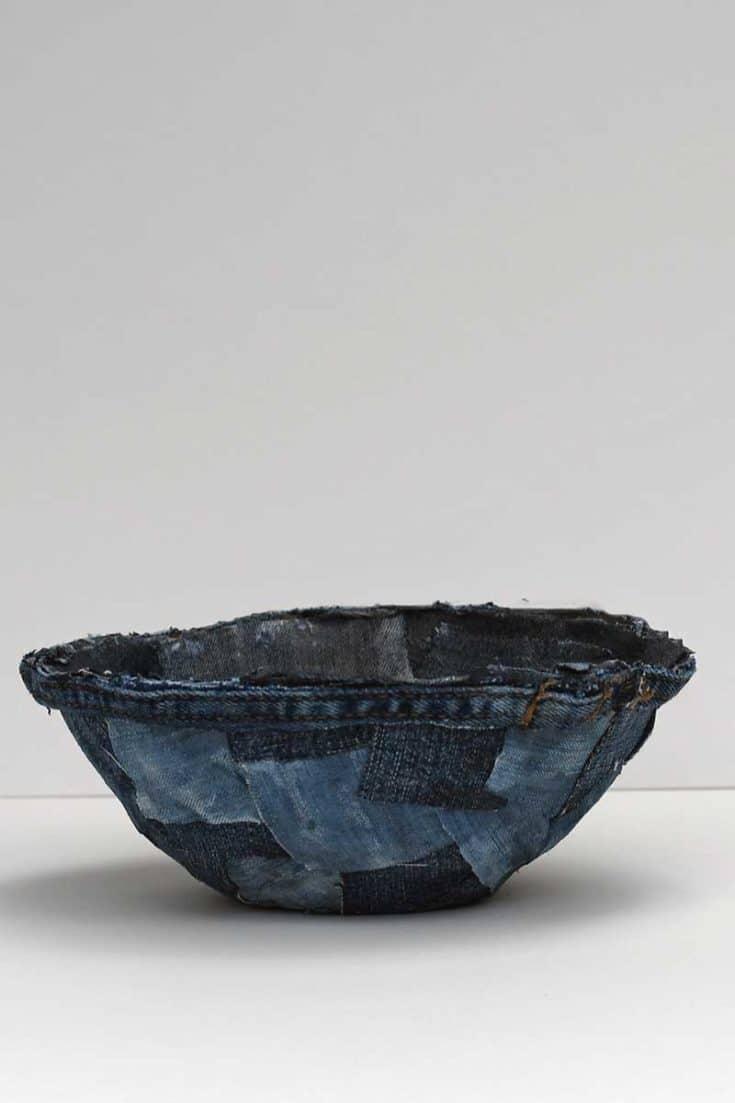 mini denim fabric bowl