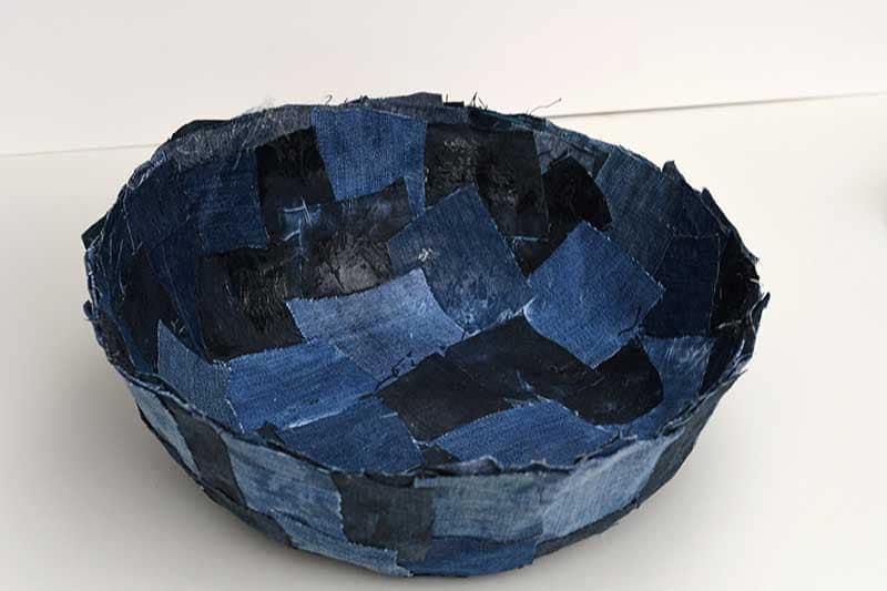 Patchwork denim bowl