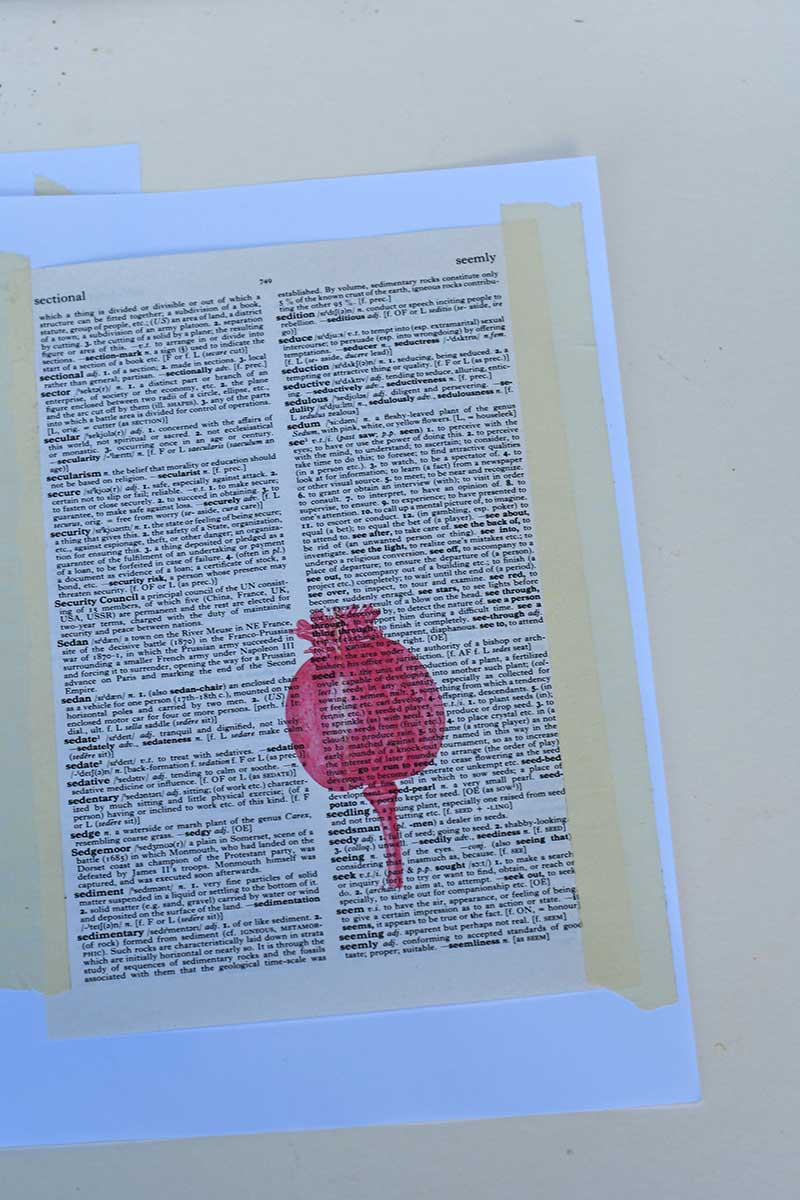 Poppy printed onto dictionary page