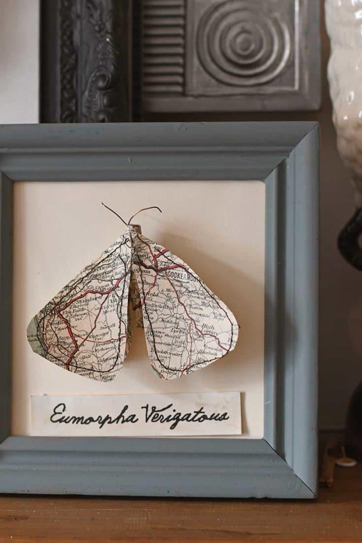 faux map moths