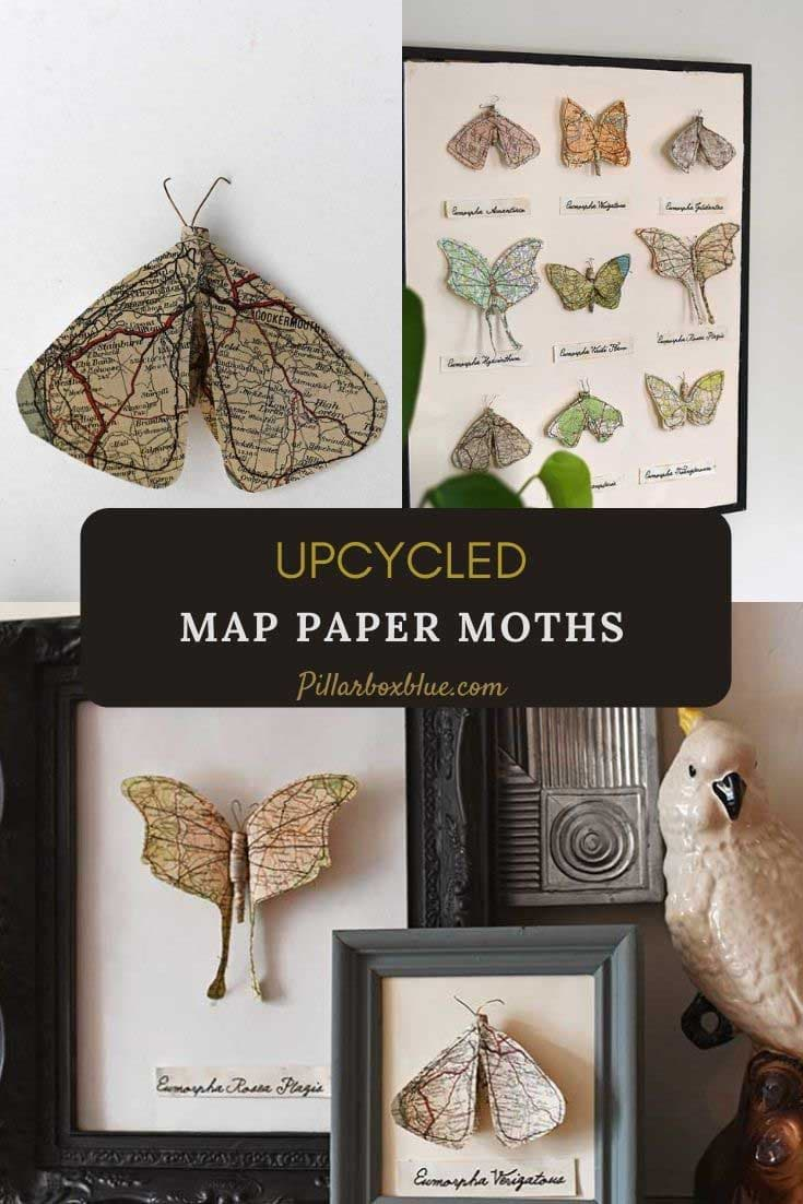 upcycled-map-paper-moths