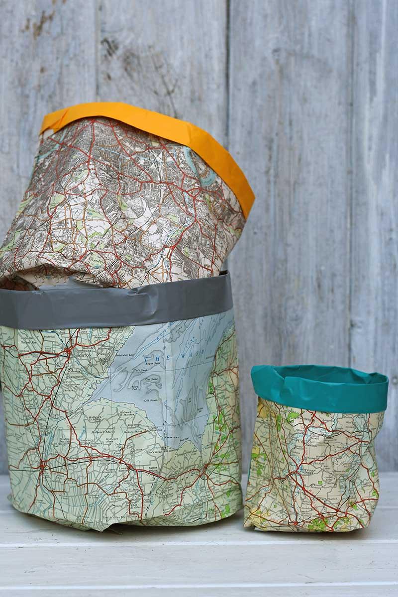 Map paper storage buckets