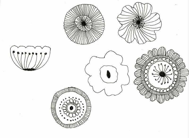 Scandinavian Floral Doodles