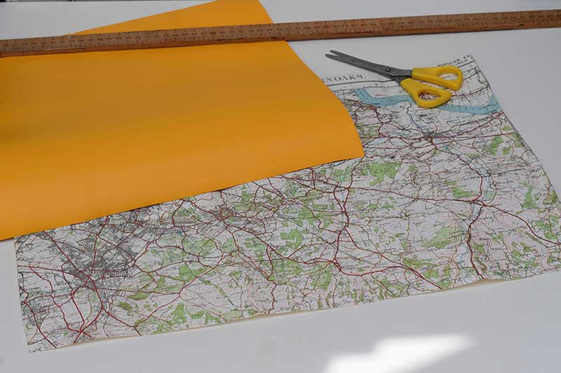 cutting-map-contact-paper