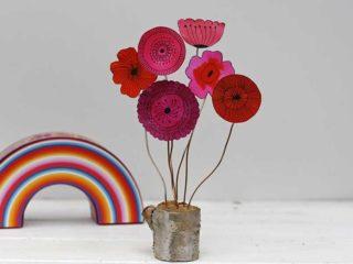 Doodle flower decoration
