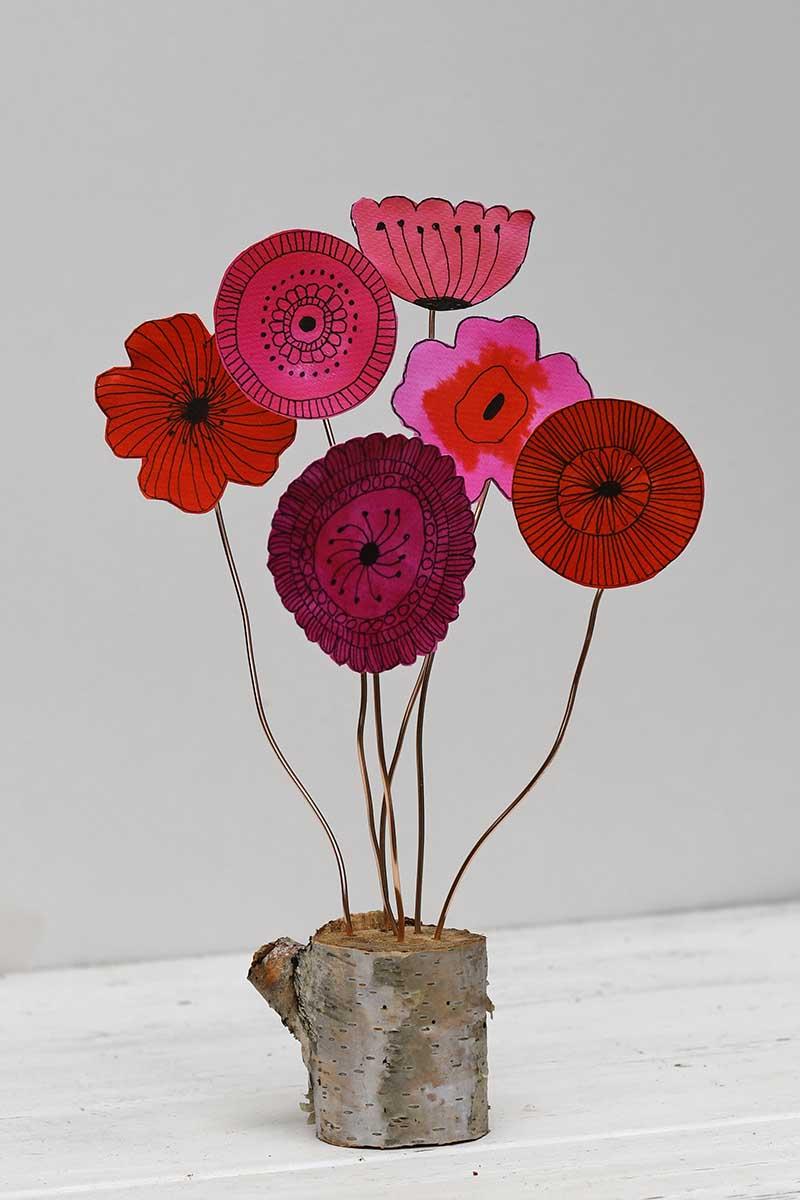 Scandi Flower Doodle decoration