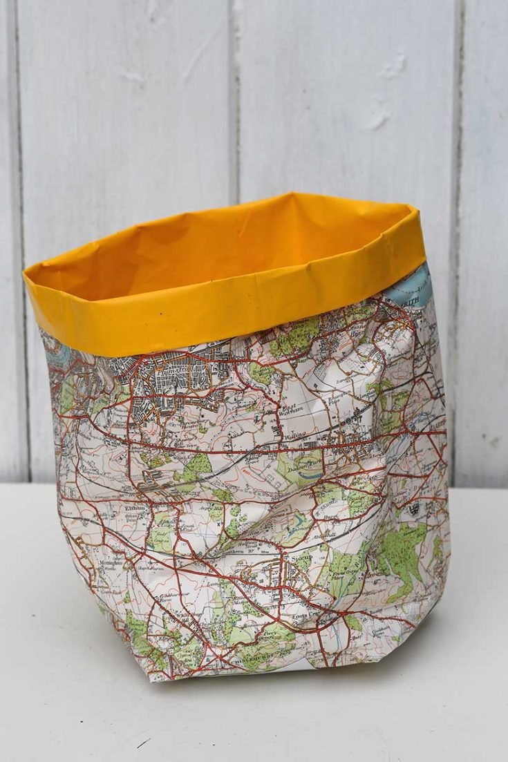 Map DIY paper plant cover