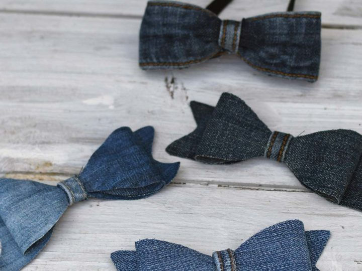 how to make two kinds of denim bows