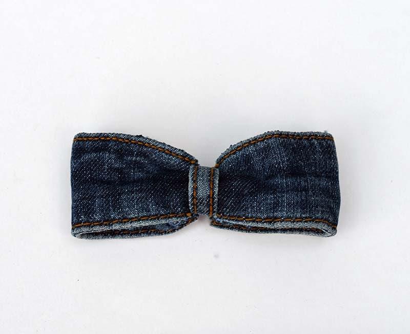 denim bow tie.