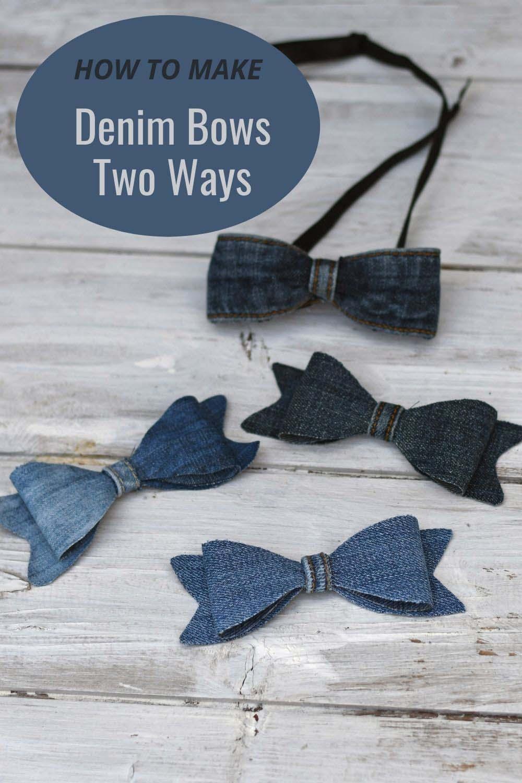 How to make denim bows