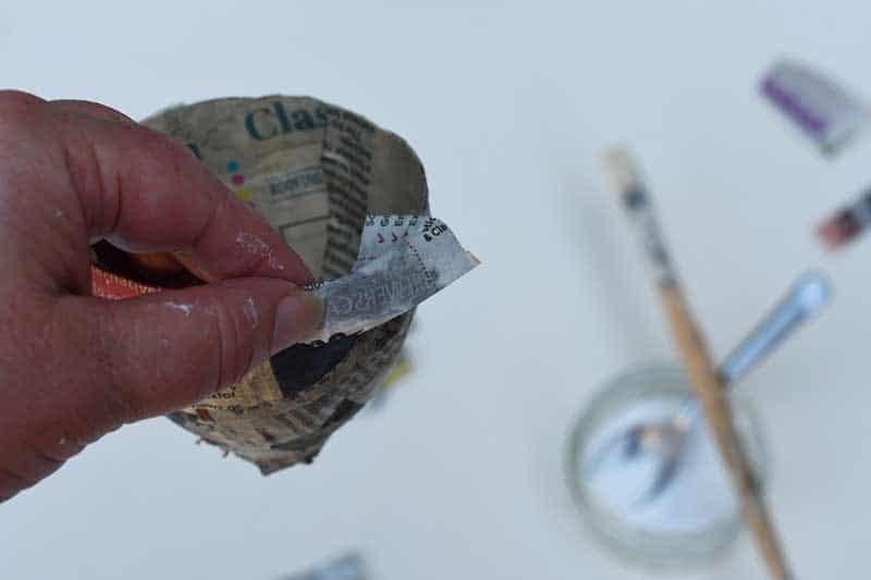 paper maching the rim.