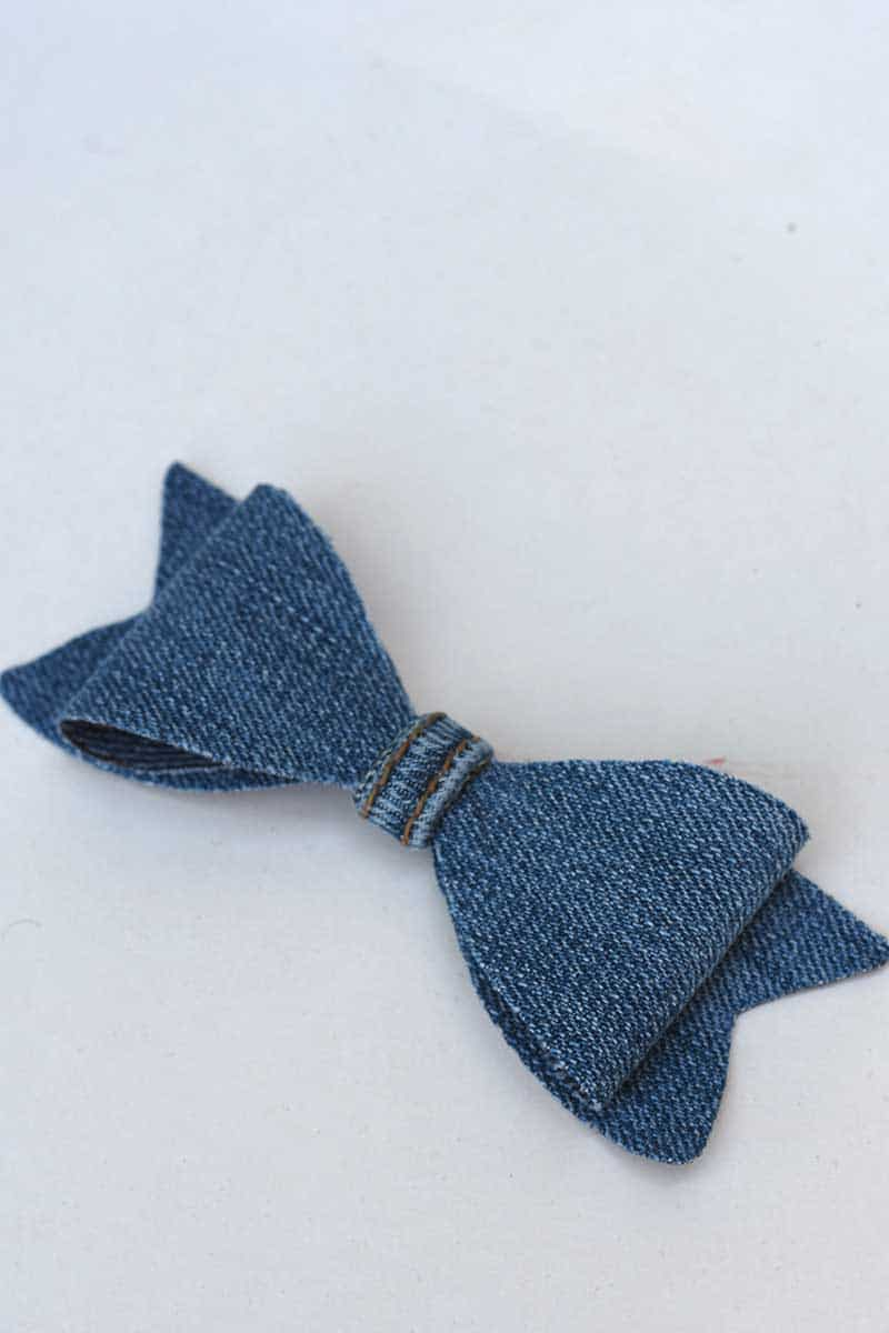 How to make a denim bow tie 2 ways