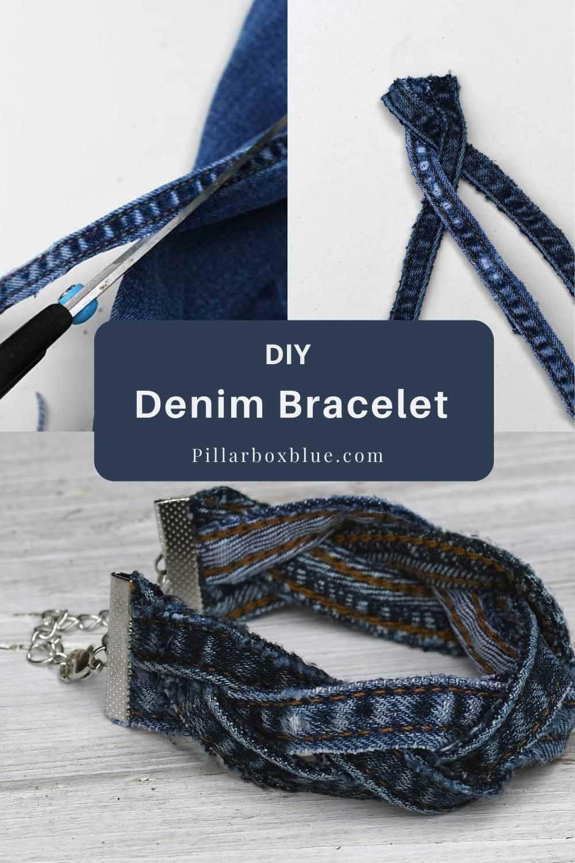 DIY denim bracelet