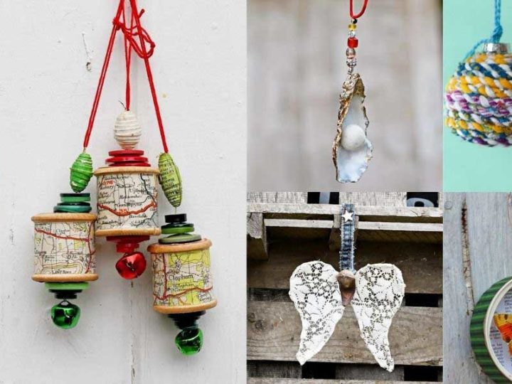 best upcycled Christmas Ornaments