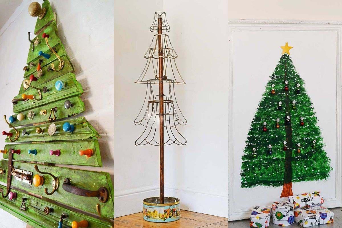 Alternative and upcycled Christmas tree DIYs